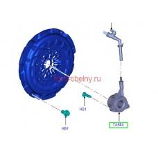 РЦС Рабочий цилиндр сцепления125-155 л.с. FTE (1749121)